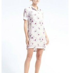 Banana Republic Floral Collared Shift Dress